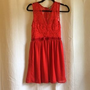 Red Lacey Sweetheart Dress